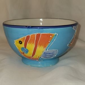 🦋5/$25 Style Eyes Fish 3D-like hand painted bowl